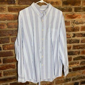 ♦️Sonoma Mens Striped Button Down Shirt Size Large
